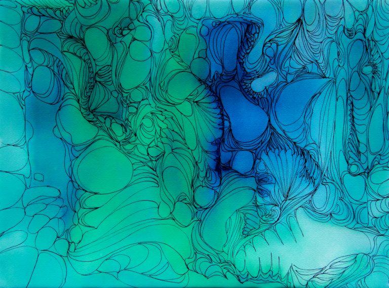 Cellules - Peinture - Isabelle Milléquant Surr