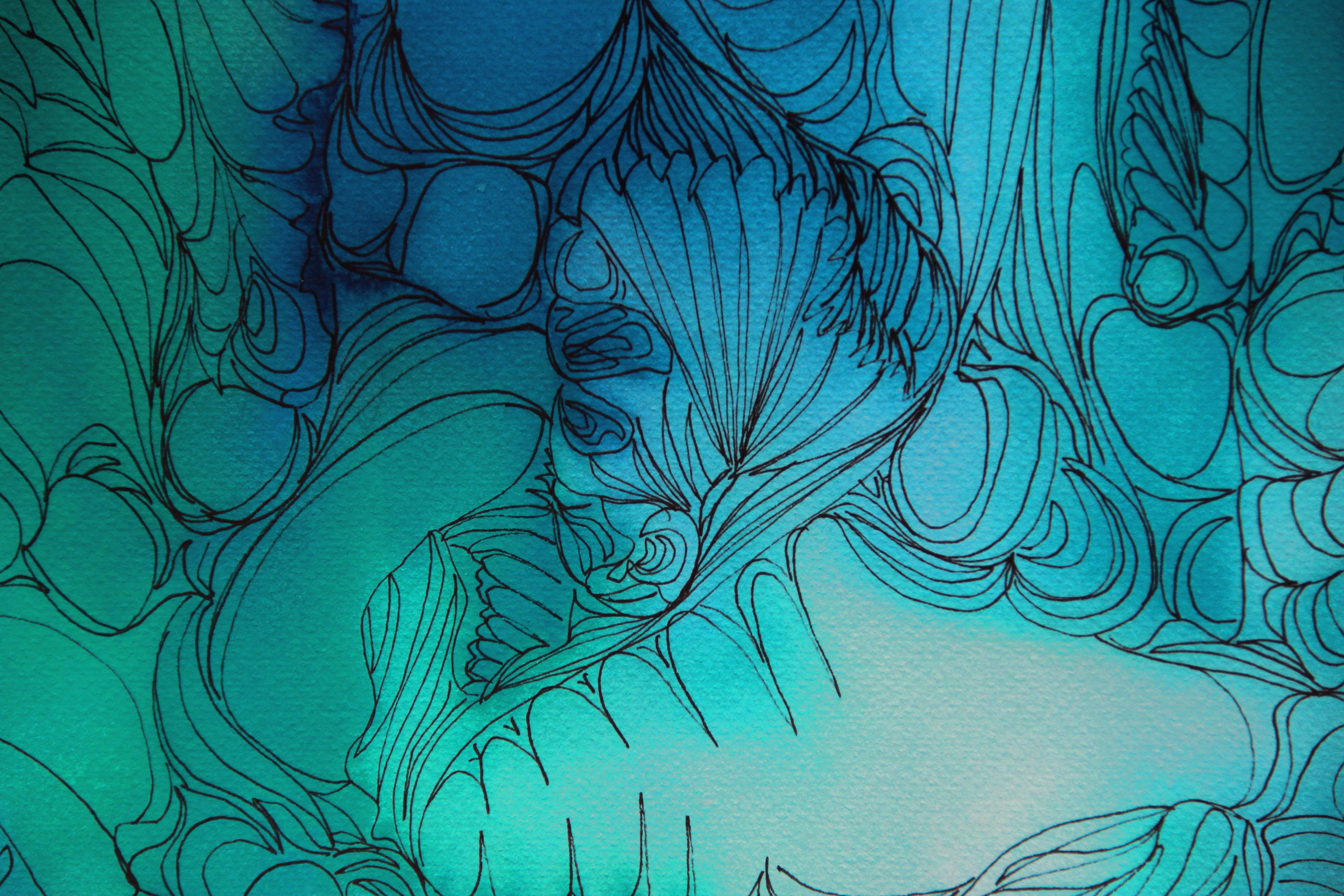 Cellules détail - Peinture - Isabelle Milléquant Surr