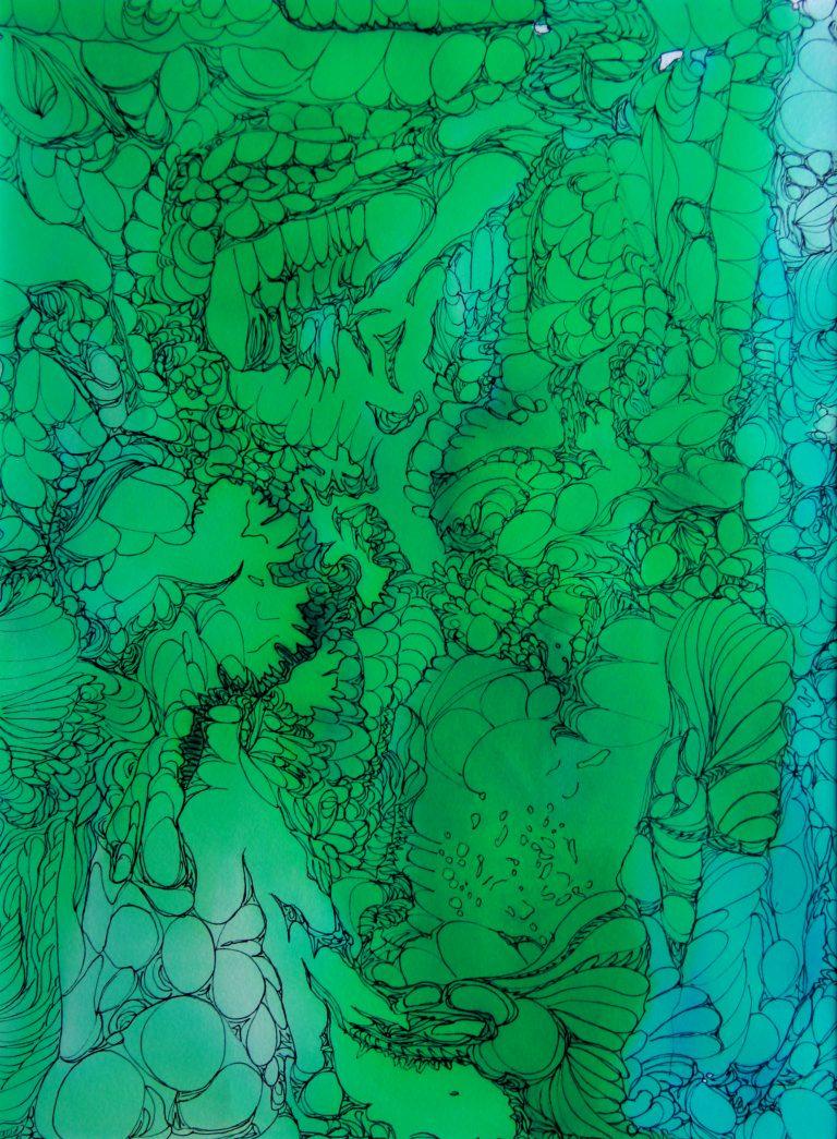 Galaxie - Peinture - Isabelle Milléquant Surr