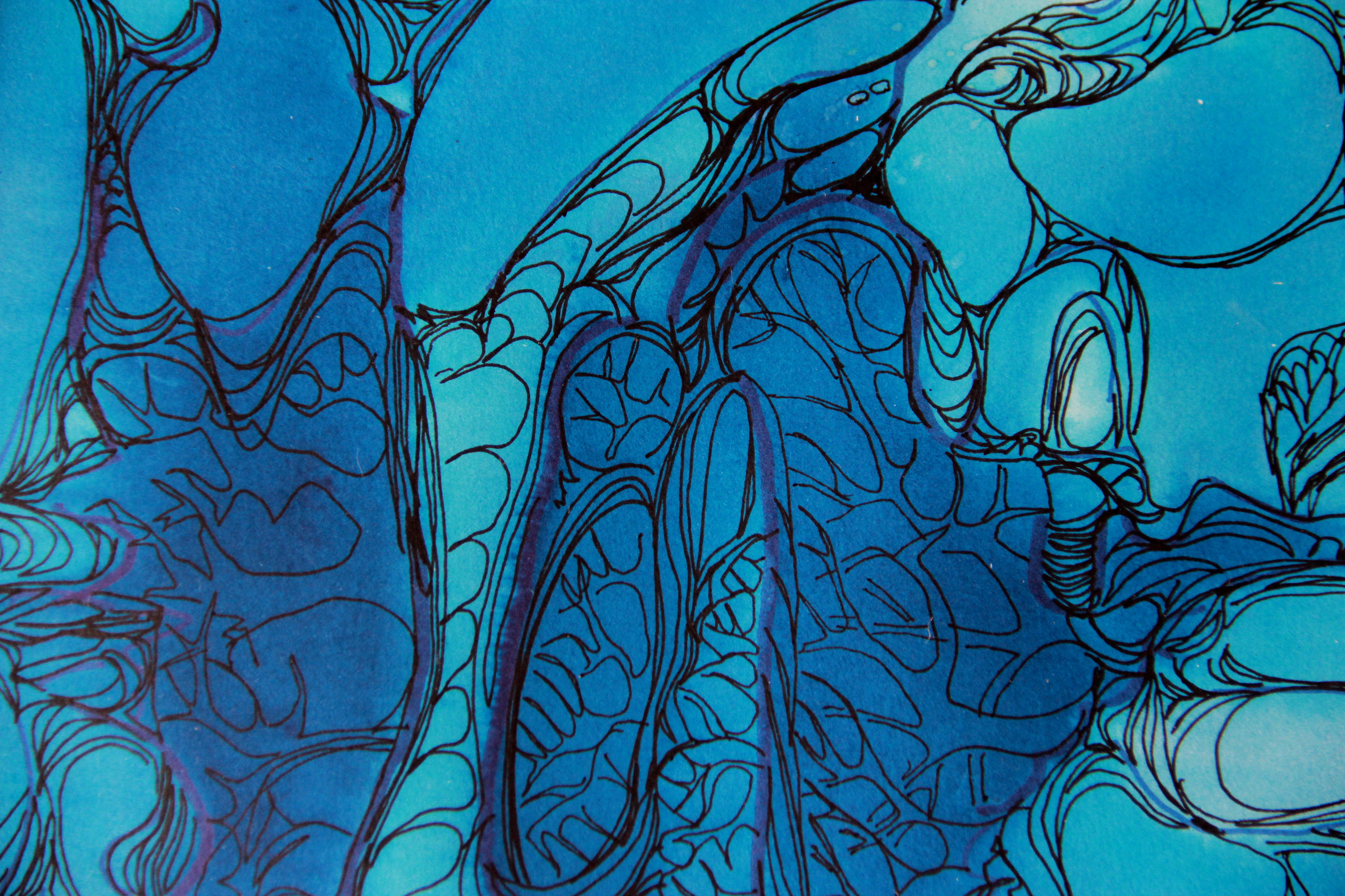 Magma détail - Peinture - Isabelle Milléquant Surr