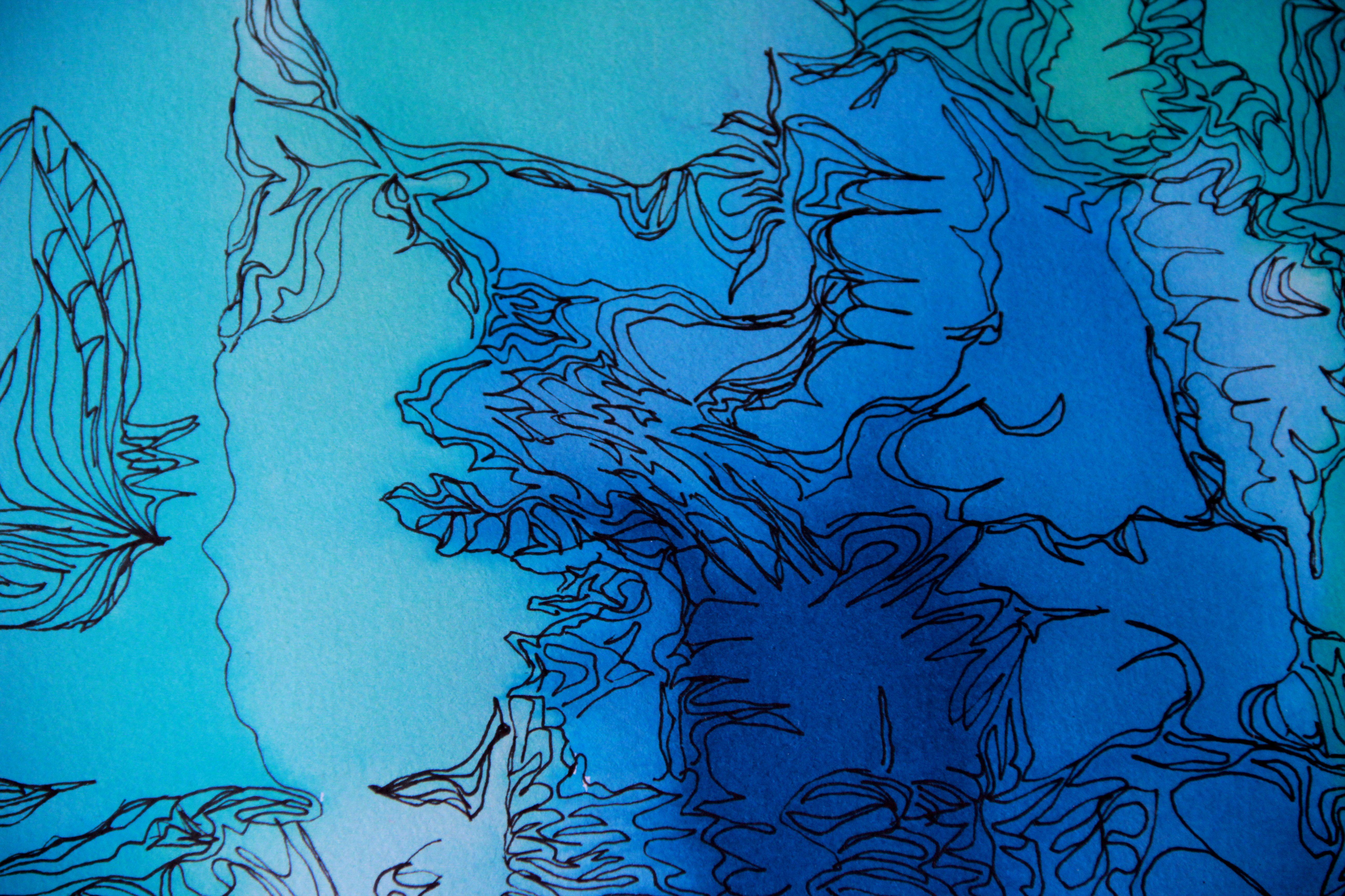 Paysages d'ailleurs détail - Peinture - Isabelle Milléquant Surr
