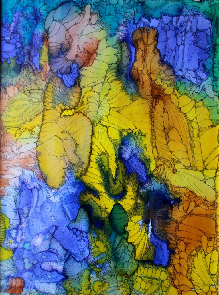 Voyage Cosmique - Peinture - Isabelle Milléquant Surr