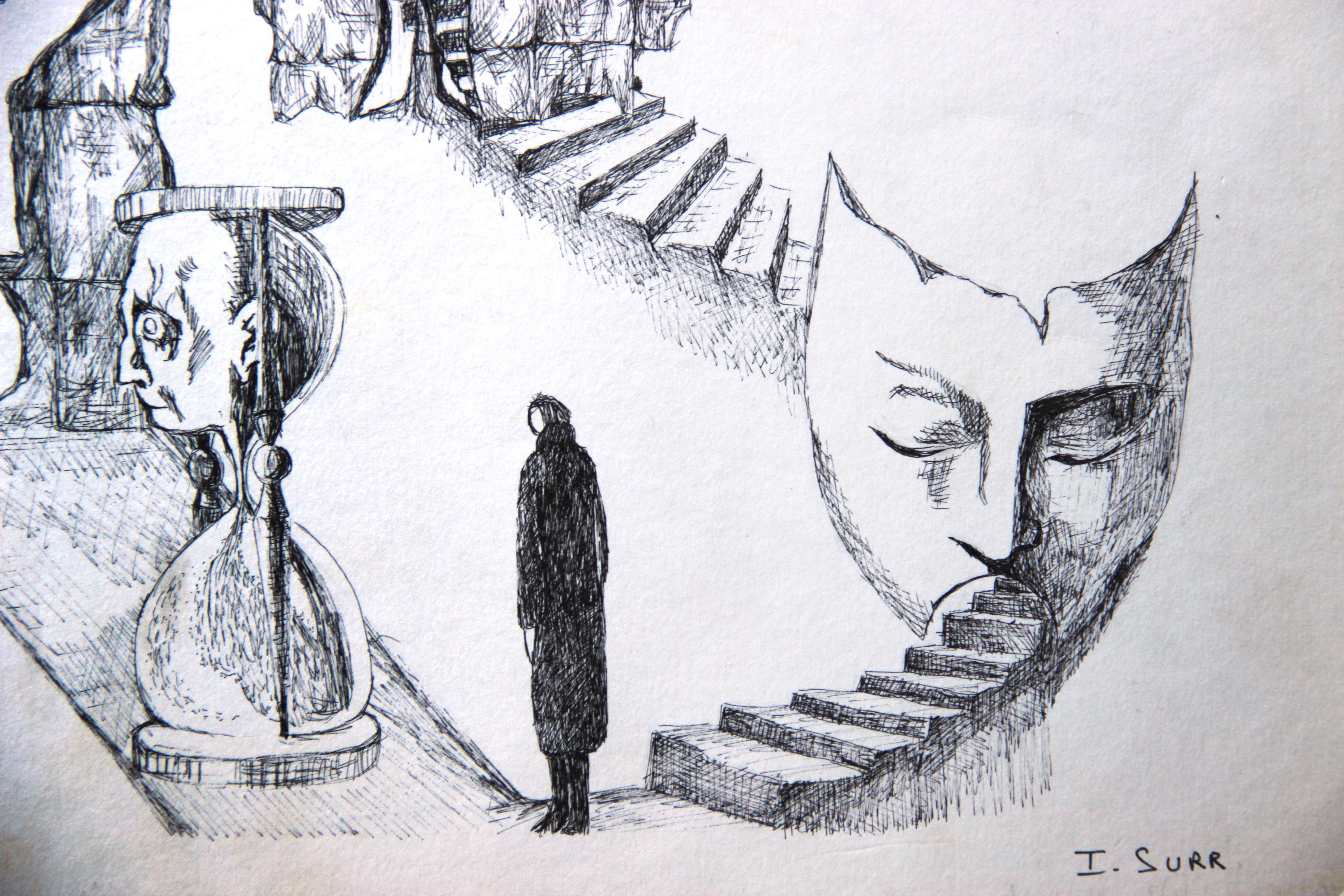 Escaliers détail 1 - Croquis - Isabelle Milléquant Surr