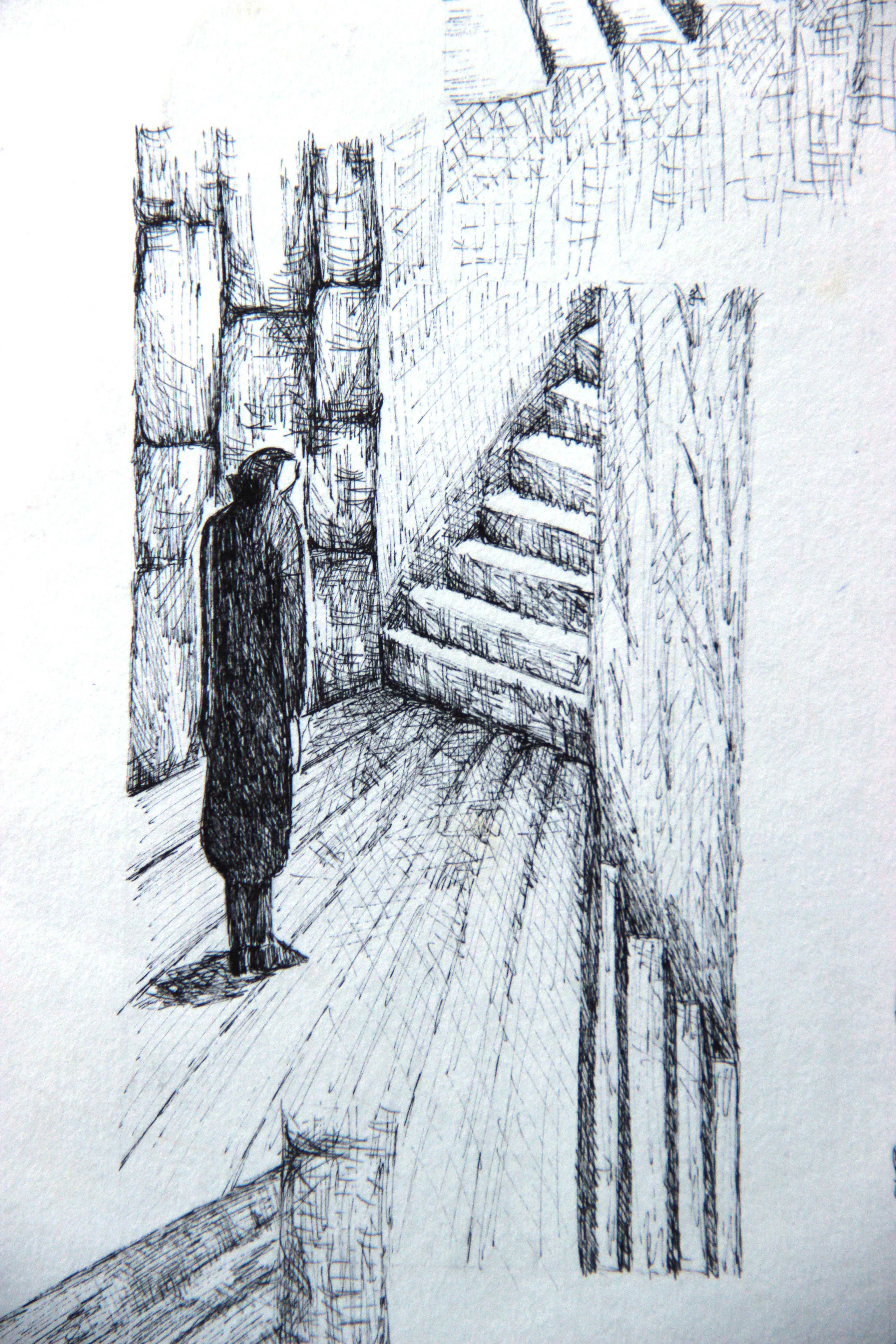 Escaliers détail 2 - Croquis - Isabelle Milléquant Surr