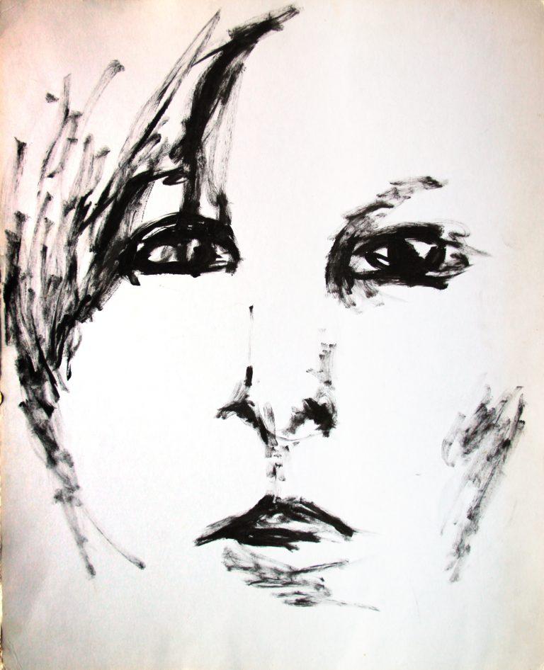 Portrait 1 - Croquis - Isabelle Milléquant Surr