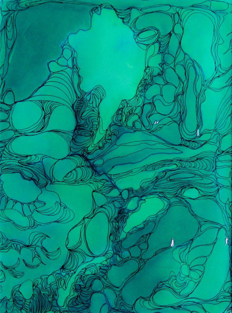 Cosmos 1 - Peinture - Isabelle Milléquant Surr