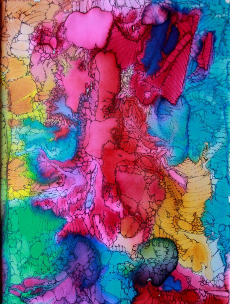 Galaxie 2 - Peinture - Isabelle Milléquant Surr