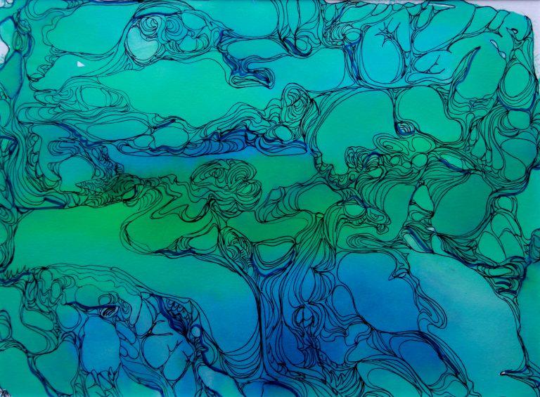 Molécules - Peinture - Isabelle Milléquant Surr
