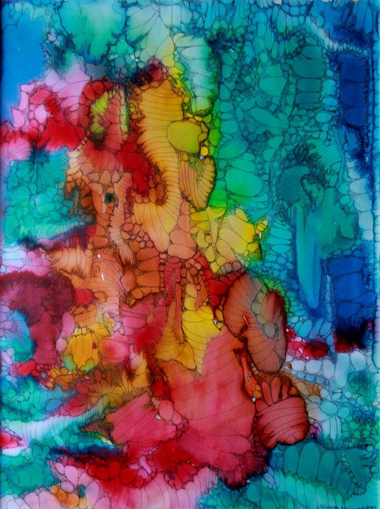 Nébuleuse 2 - Peinture - Isabelle Milléquant Surr