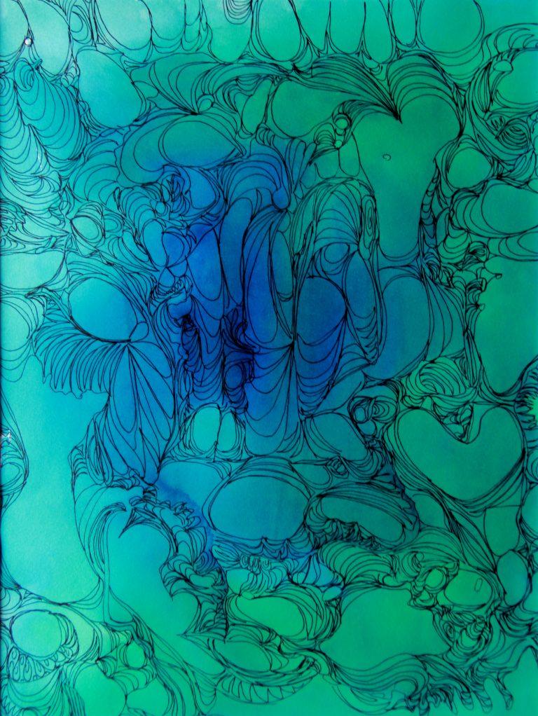 Univers 2 - Peinture - Isabelle Milléquant Surr