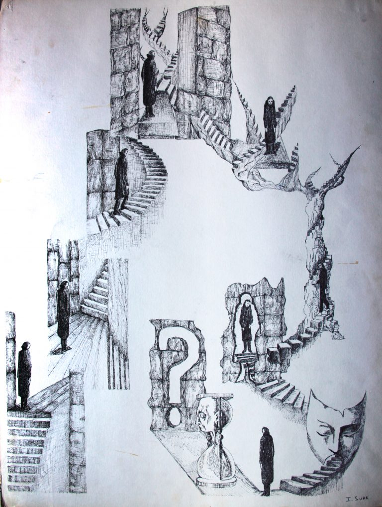 Escaliers - Croquis - Isabelle Milléquant Surr